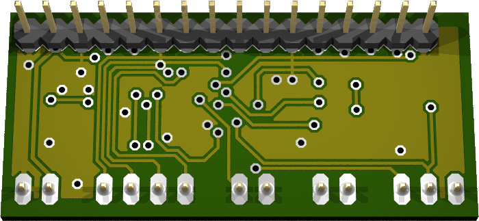 Back of the OpenLCD PCB